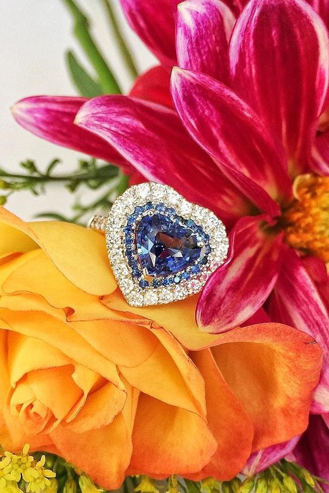 heart engagement rings sapphire engagement rings best engagement rings diamond halo engagement rings modern engagement rings