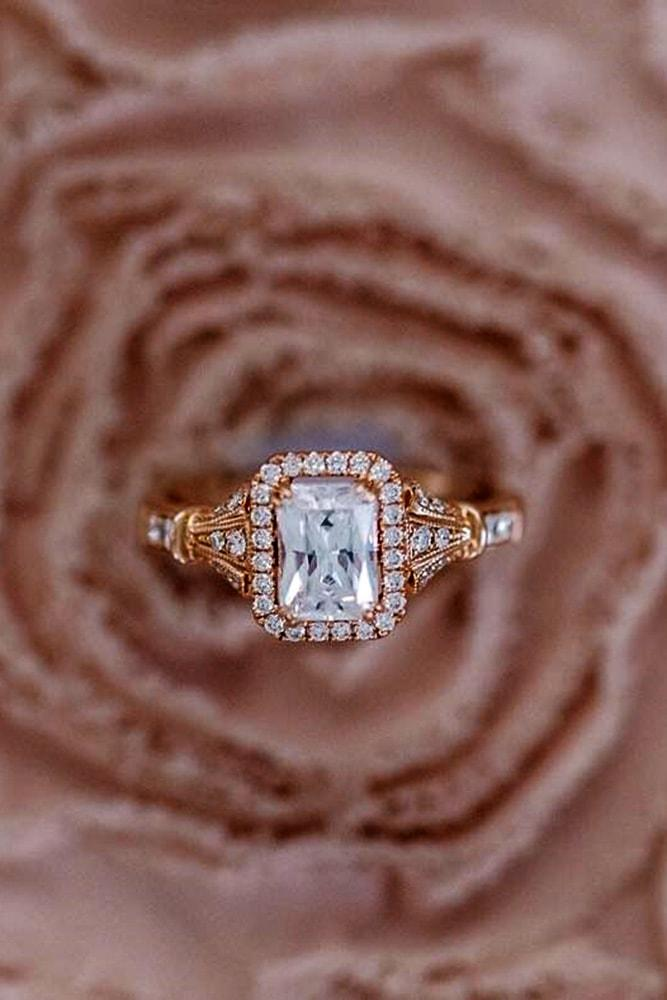 kirk kara engagement rings rose gold wonderful emerald cut halo engagement ring twisted band kirk kara min