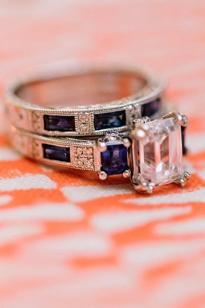 kirk kara engagement rings sparkling ring with sapphire white gold emerald cut diamond pave band with emerald cut sapphires kirk kara min