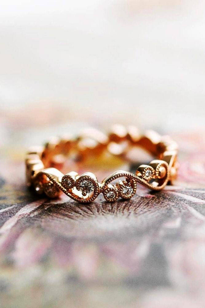 kirk kara engagement rings unique wedding bands with diamonds floral elements rose gold kirk kara min