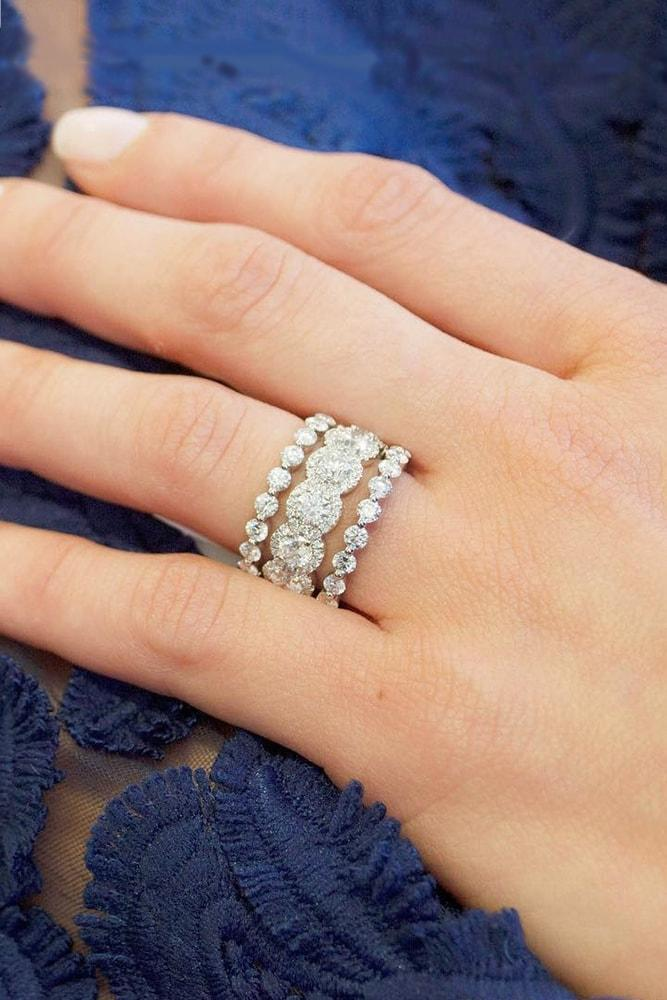 ring trends round cut diamonds pave band eternity band rings