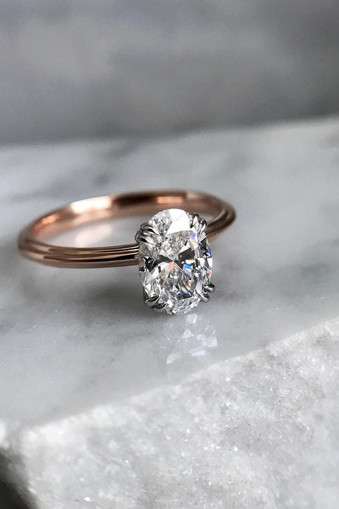 ring trends timeless simple rings rose gold oval cut diamond classic solitaire