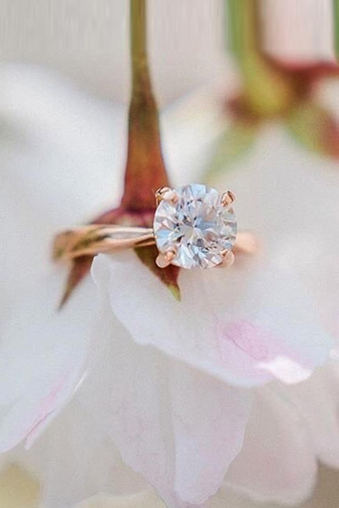 ring trends timeless simple rings rose gold round cut diamond classic solitaire