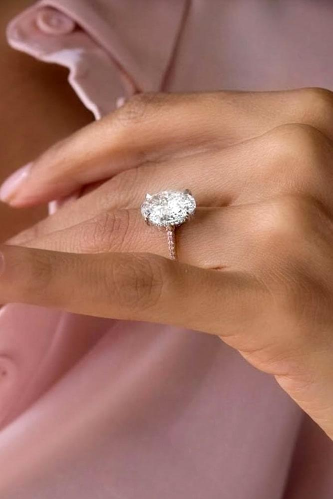 rose gold engagement rings diamond engagement rings oval engagement rings classic engagement rings