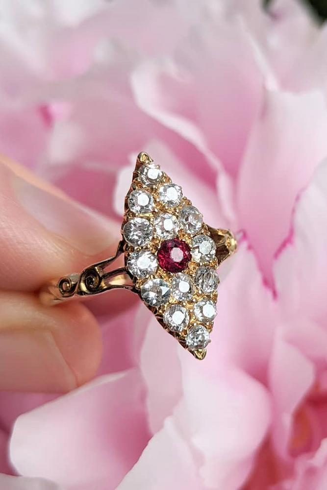 ruby engagement rings vintage engagement ring rose gold engagement ring