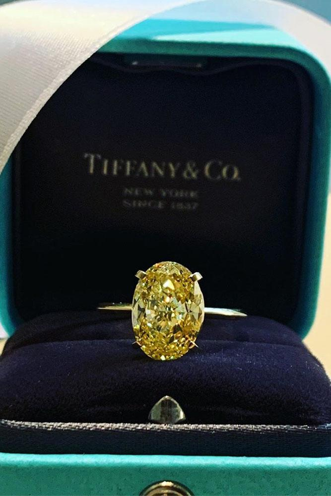 tiffany engagement rings white gold engagement rings oval cut engagement rings simple engagement rings solitaire rings yellow diamond engagement rings