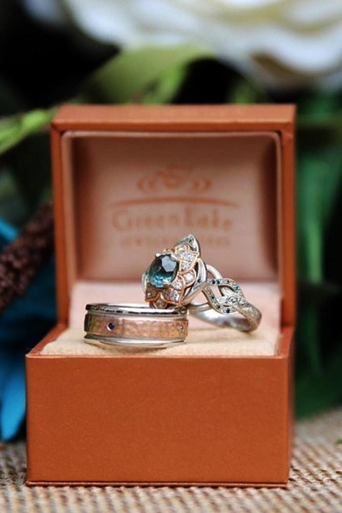 vintage wedding rings two tone engagement rings ring sets vintage wedding bands engagement ring boxes