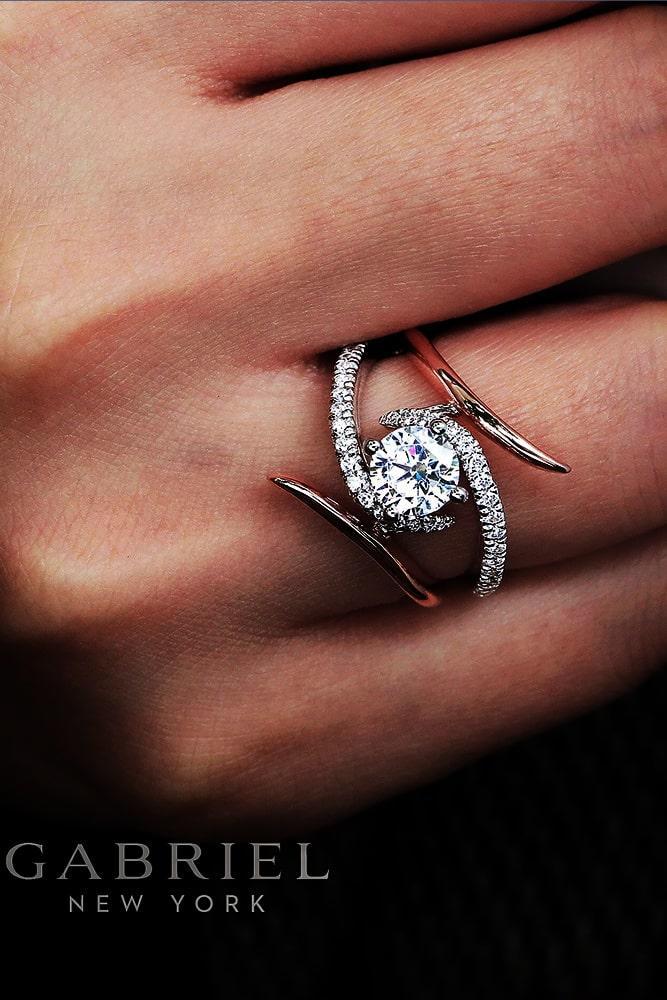 beautiful engagement rings diamond engagement rings rose gold engagement rings unique engagement rings split shank engagement rings
