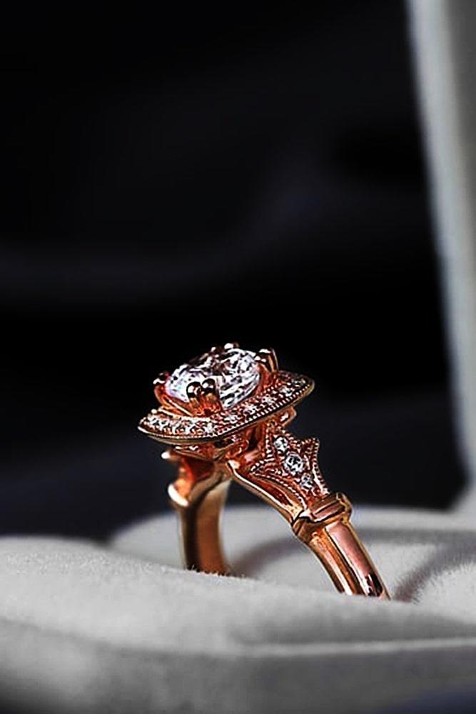 beautiful engagement rings vintage engagement rings rose gold engagement rings ring boxes unique rings flower rings