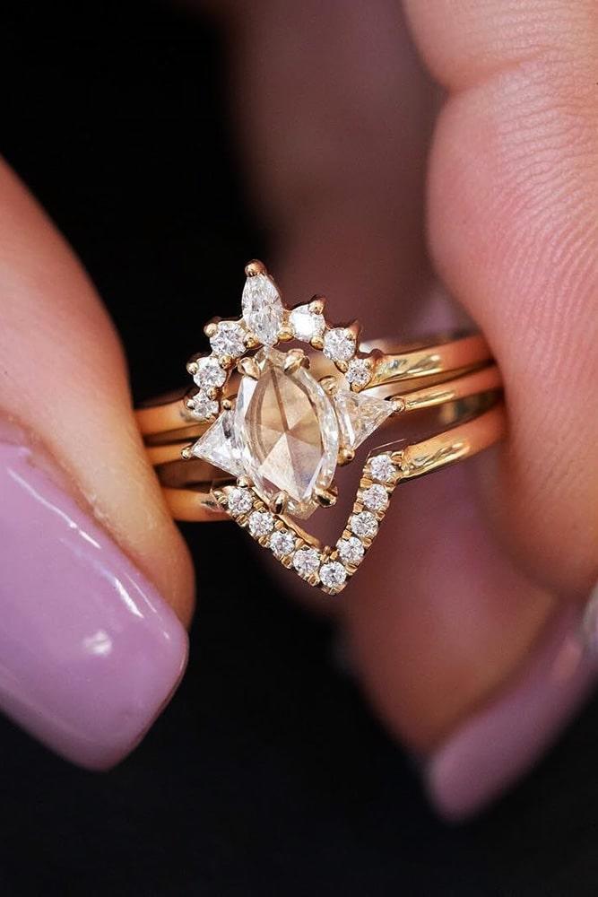 bridal sets diamond wedding ring sets marquise cut engagement rings beautiful wedding rings unique wedding ring sets
