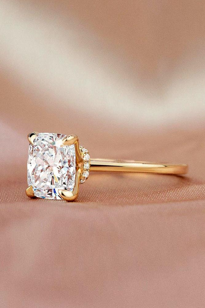 brilliant earth cushion cut engagement ring rose gold engagemgent ring