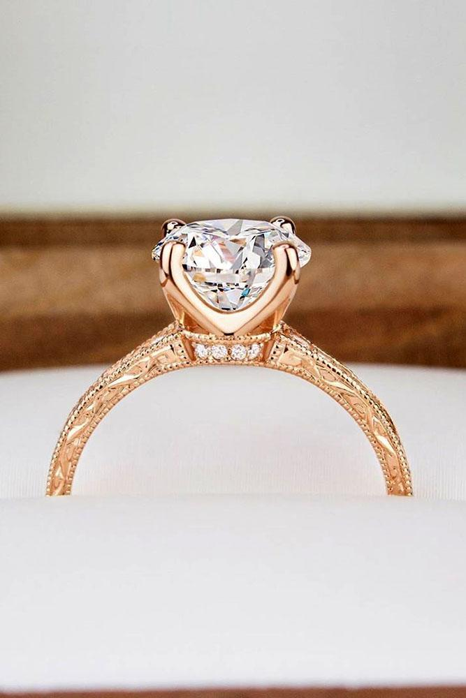 brilliant earth round cut engagement ring rose gold engagemgent ring