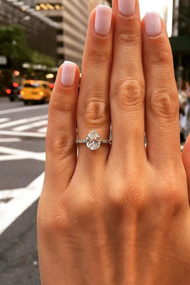 classic engagement rings rose gold engagement rings pear shaped engagement rings diamond rings