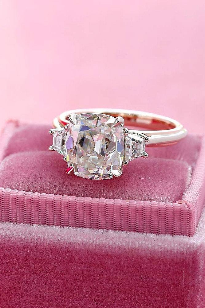 classic engagement rings rose gold engagement rings three stone engagement rings diamond engagement rings