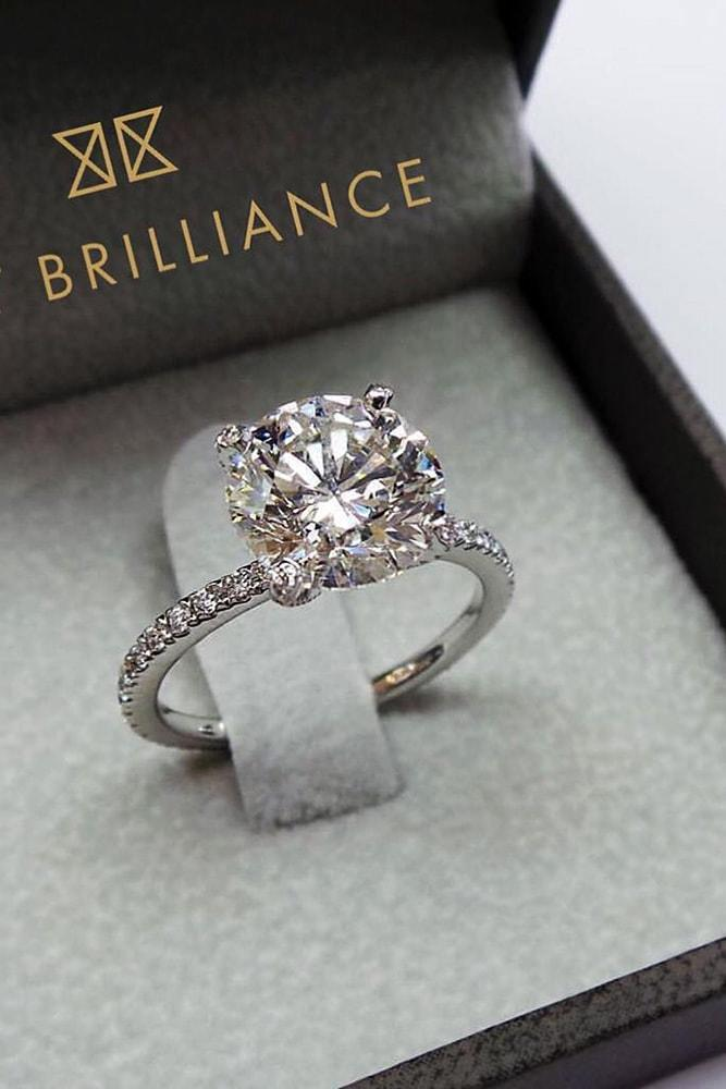 Delicate White Gold Engagement Rings