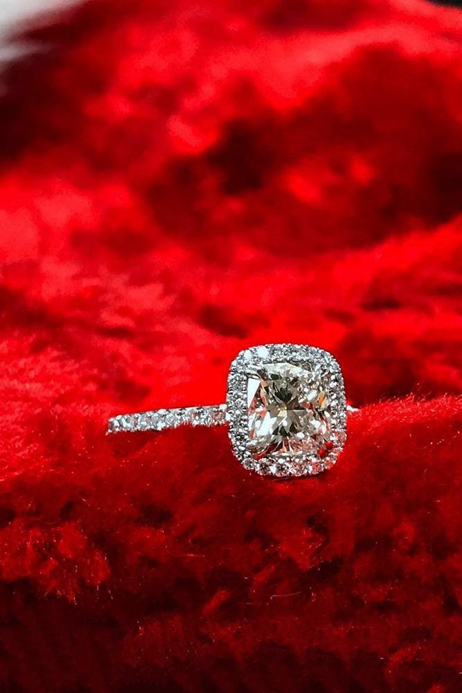 diamond engagement rings white gold engagement rings cushion cut engagement rings halo rings