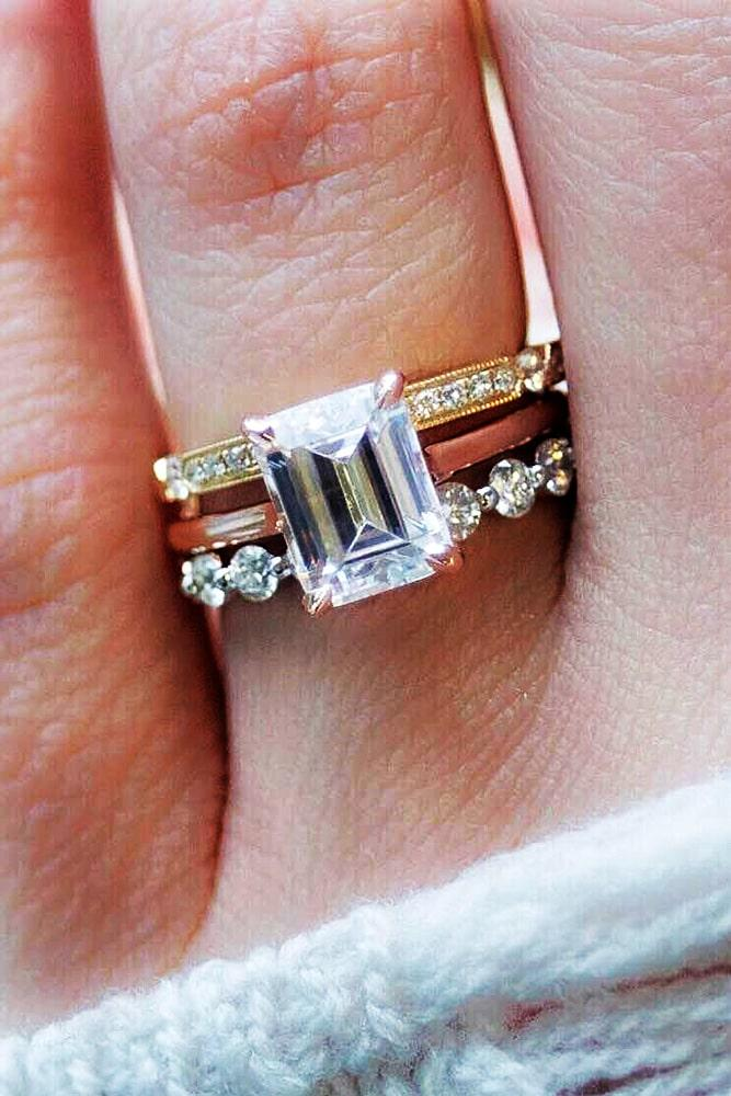 emerald engagement rings two tone engagement rings wedding ring sets best engagement rings modern ring sets