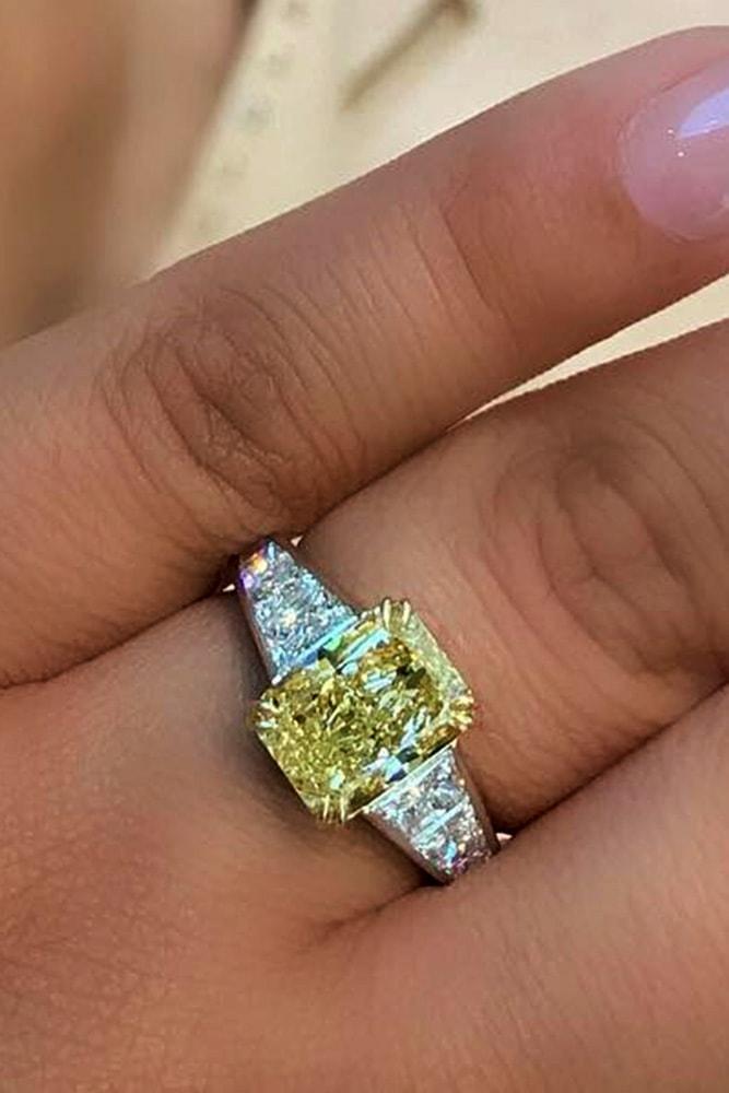 emerald engagement rings yellow diamond engagement rings white gold engagement rings emerald cut diamond three stone engagement rings
