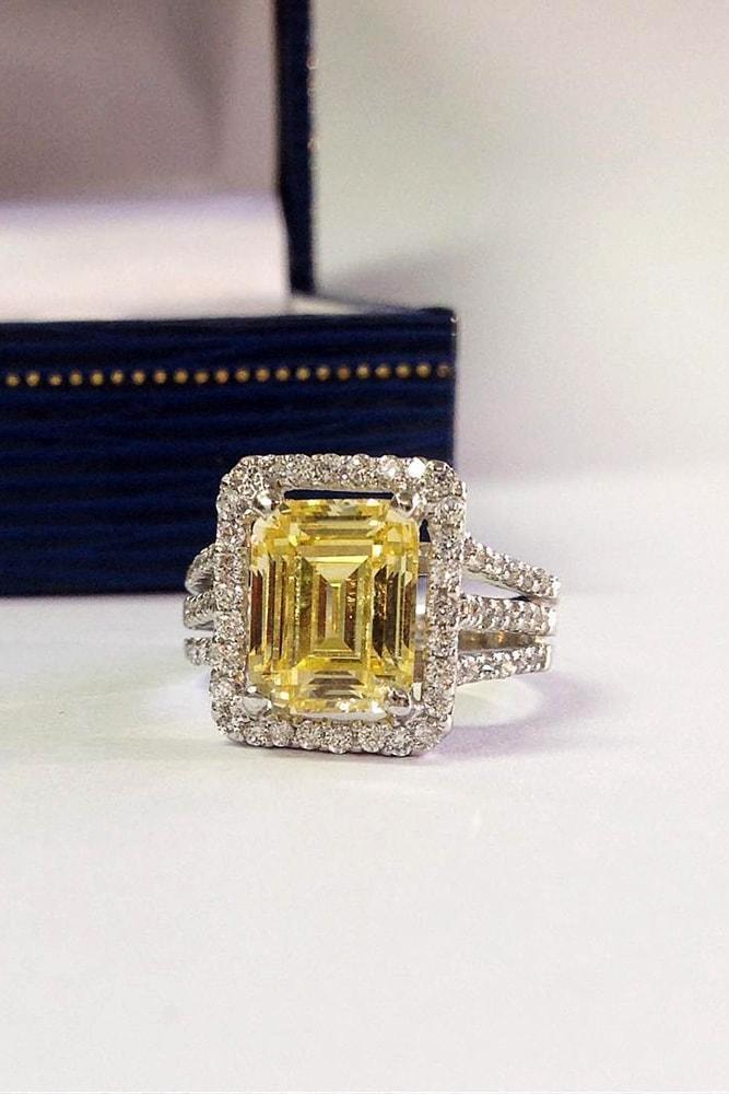 emerald engagement rings yellow diamond engagement rings white gold engagement rings halo rings split shank engagement ring