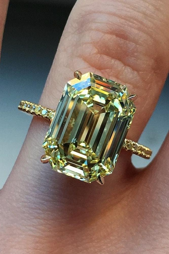 emerald engagement rings yellow gold engagement rings yellow diamond engagement rings simple engagement rings pave band