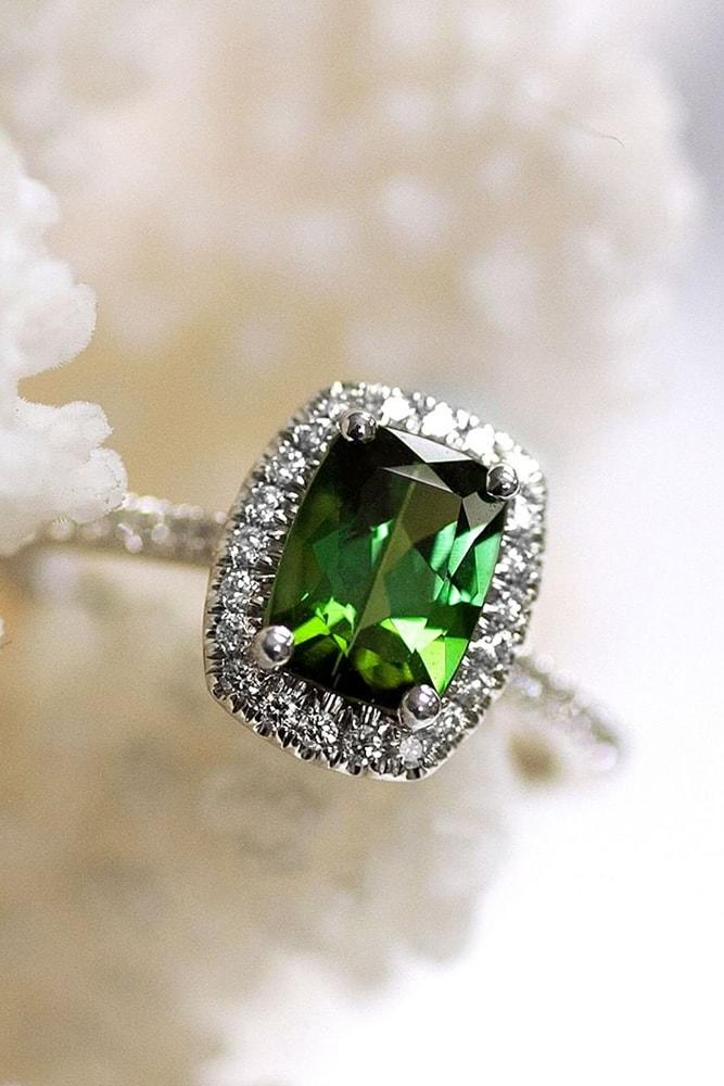 gemstone engagement rings white gold engagement rings halo engagement rings cushion cut engagement rings