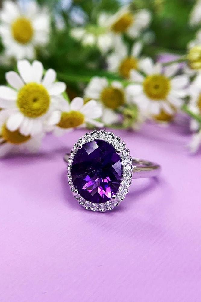 gemstone engagement rings white gold engagement rings halo engagement rings oval engagement rings