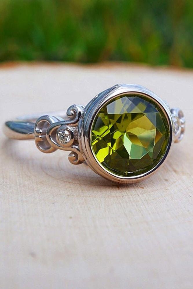 gemstone engagement rings white gold engagement rings halo engagement rings round engagement rings