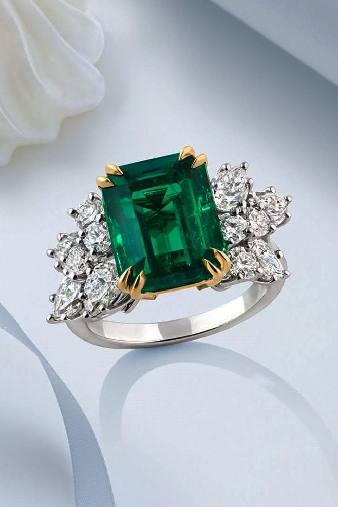 harry winston engagement rings emerald cut engagement rings white gold engagement rings two tone engagement ring