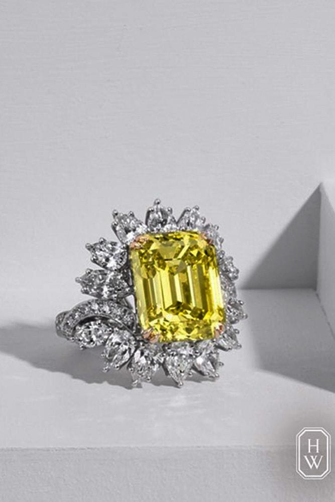 harry winston engagement rings yellow diamond engagement rings emerald cut engagement rings flower engagement rings