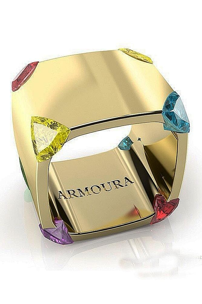 modern engagement rings yellow gold colored gemstones unique