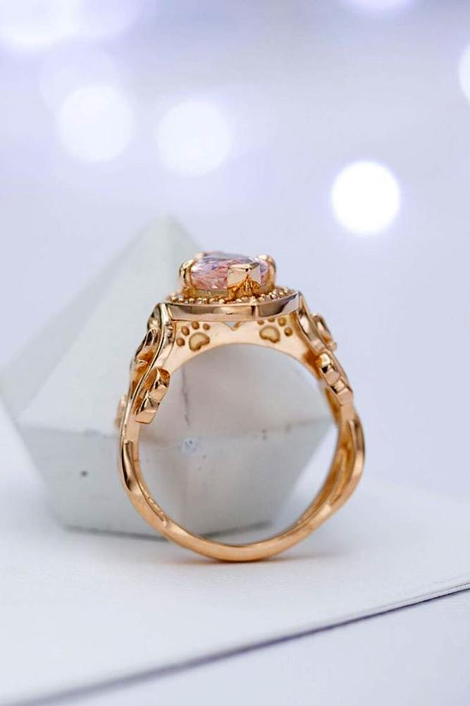 morganite engagement rings rose gold engagement rings round cut engagement rings