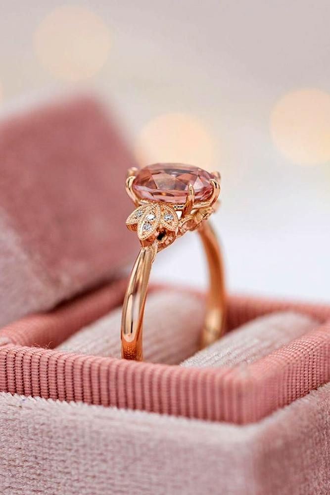 morganite engagement rings rose gold engagement rings unique engagement rings