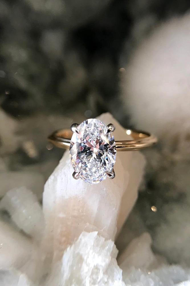 oval engagement rings simple engagement rings solitaire engagement rings rose gold engagement rings
