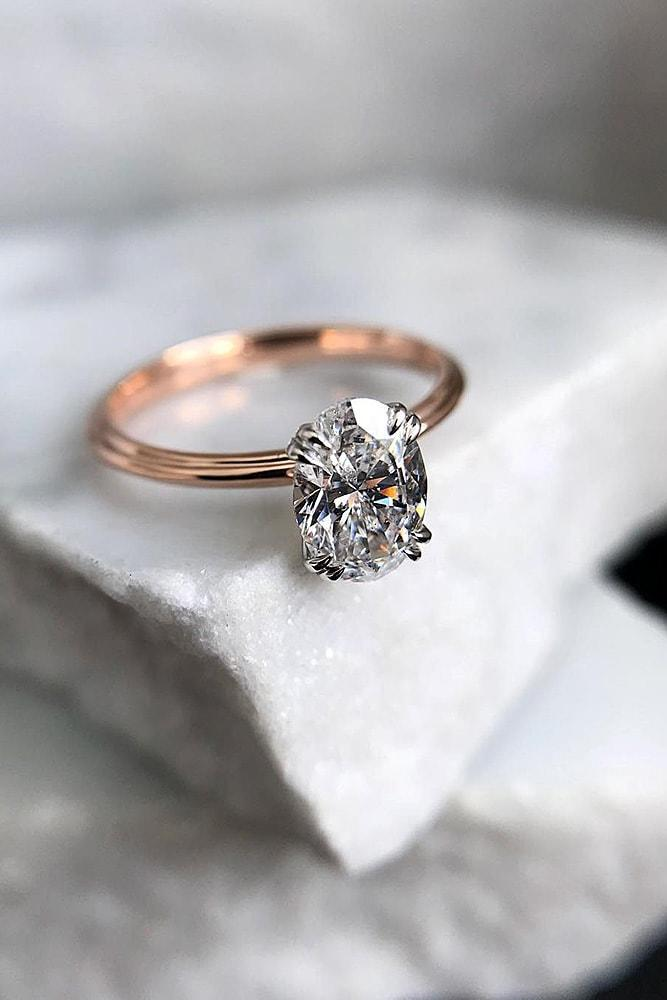 oval engagement rings simple engagement rings solitaire engagement rings rose gold rings