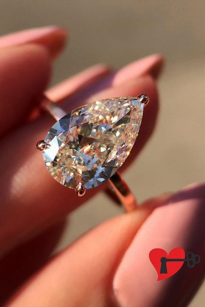pear shaped engagement rings rose gold engagement rings diamond engagement rings classic engagement rings