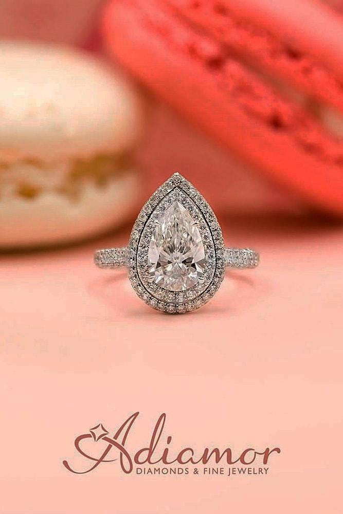 pear shaped engagement rings white gold engagement rings halo engagement rings diamond engagement rings