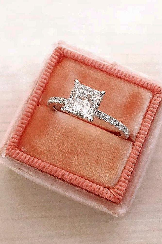 princess cut engagement rings diamond engagement rings solitaire engagement rings ring boxes