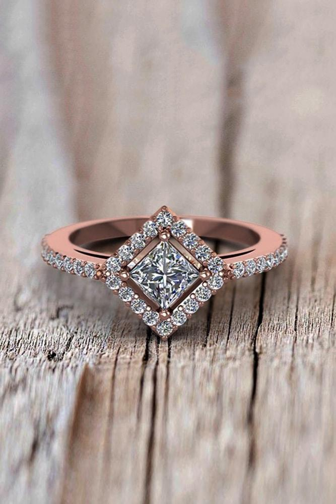 princess cut engagement rings rose gold engagement rings diamond engagement rings ring trends