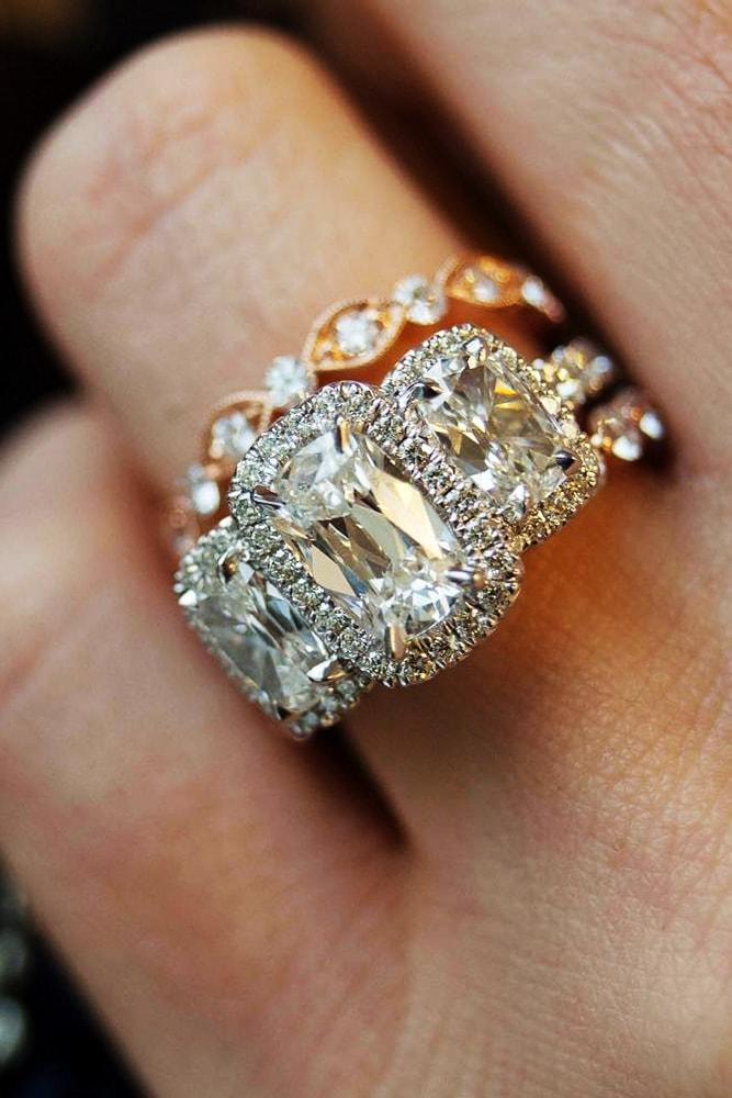 ring trends three stone engagement rings rose gold engagement rings emerald cut engagement rings halo engagement rings