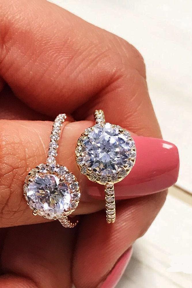 ritani engagement rings diamond engagement rings halo engagement rings rose gold engagement rings round engagement rings