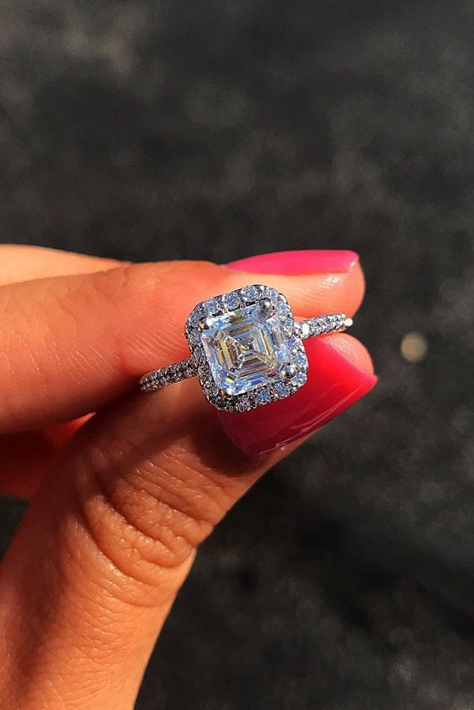 ritani engagement rings diamond engagement rings halo engagement rings white gold engagement rings radiant cut engagement rings