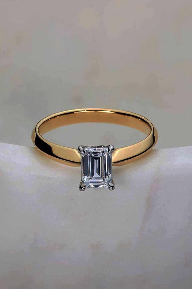 ritani engagement rings rose gold rings engagement rings emerald shaped rings diamond rings