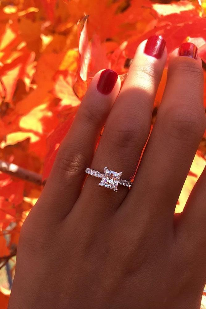 simple engagement rings white gold engagement rings solitaire engagement rings diamond engagement rings princess cut engagement