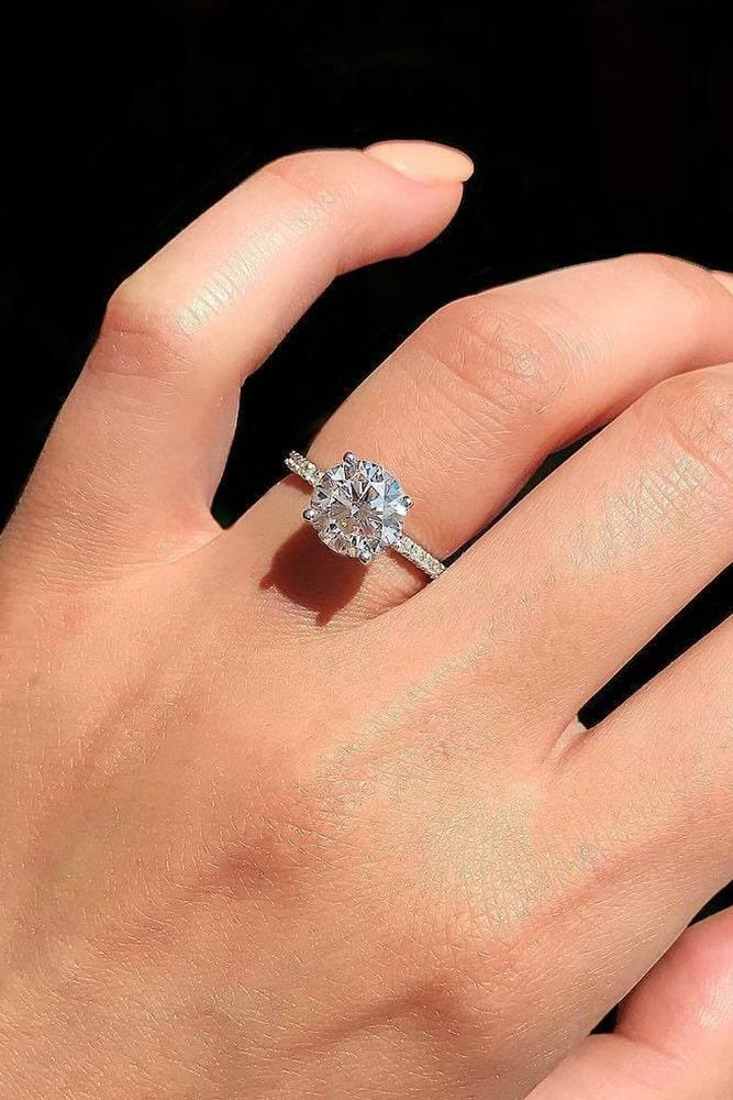 simple engagement rings white gold engagement rings solitaire engagement rings diamond engagement rings round engagement