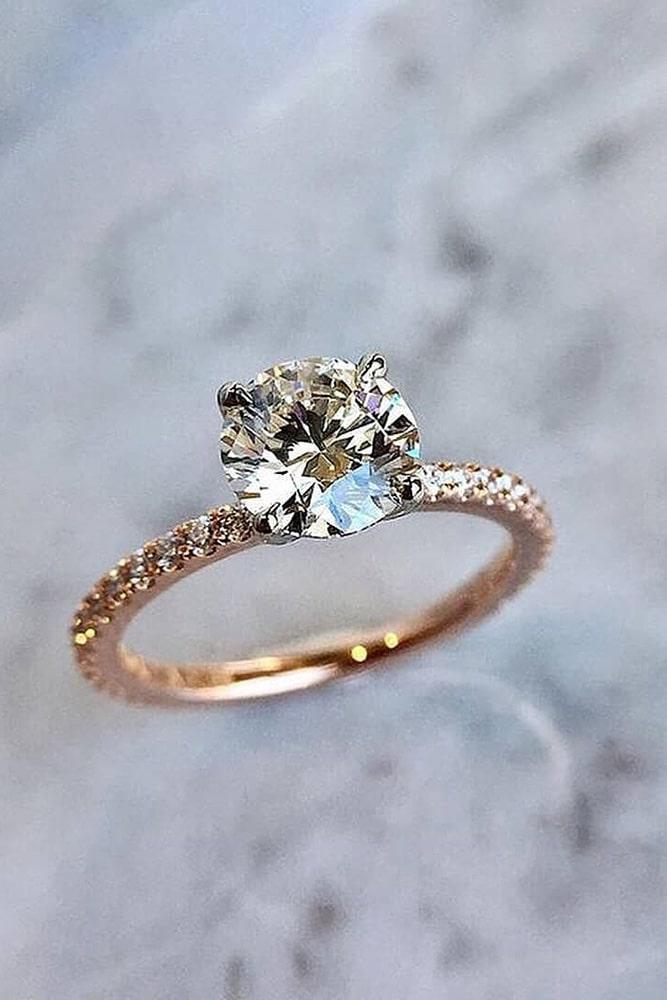 solitaire engagement rings rose gold engagement rings round engagement rings diamond engagement rings classic engagement ring