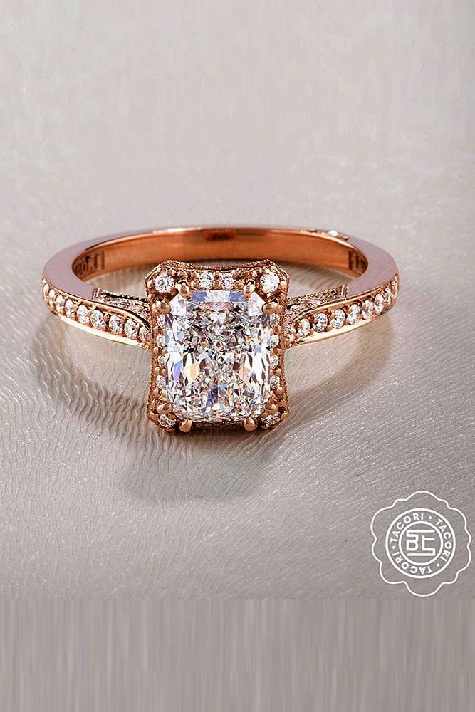 tacori engagement rings diamond halo engagement rings rose gold engagement rings emerald cut engagement rings best rings