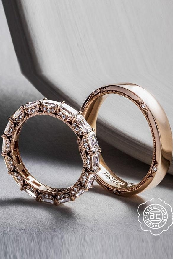 tacori engagement rings diamond wedding bands rose gold wedding rings unique wedding rings modern ring sets