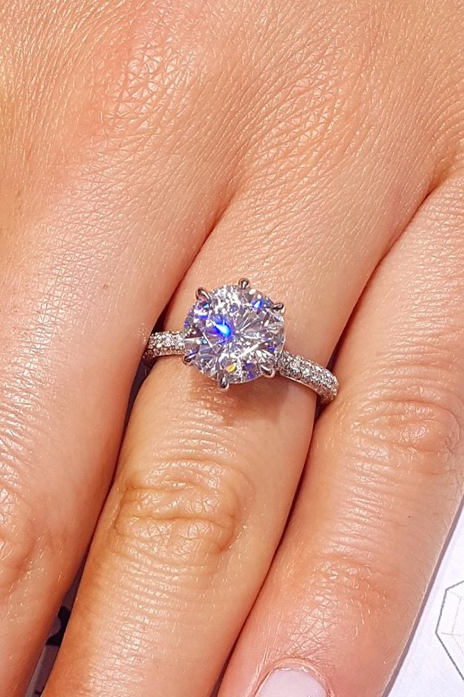 white gold engagement rings classic engagement rings solitaire engagement rings round engagement rings