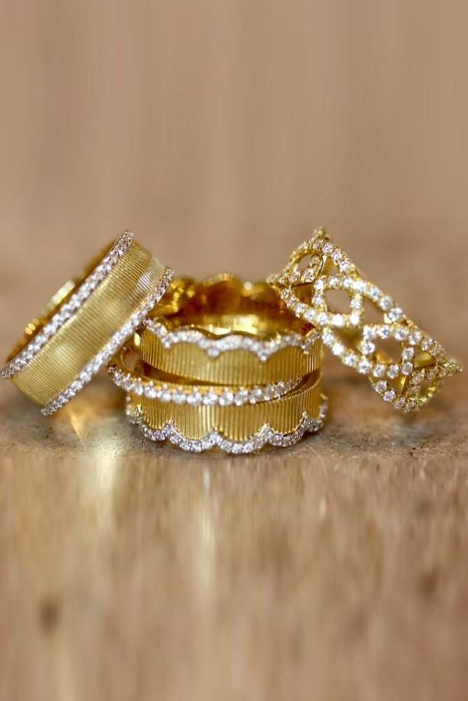 yellow gold engagement rings stackable rings unique stackable bands unique wedding rings unique rings in yellow gold