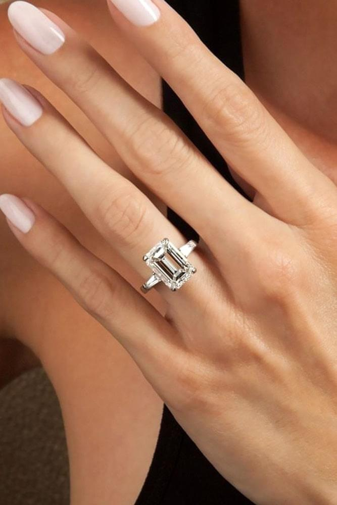 emerald cut engagement rings solitaire engagement rings diamond engagement rings classic engagement rings